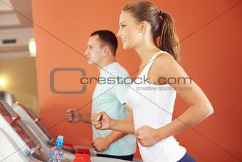 On a treadmill