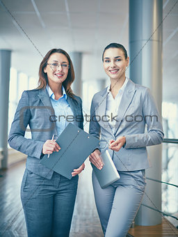 Happy businesswomen