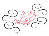 Be My Valentine greeting header