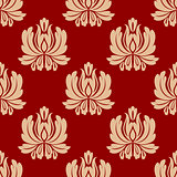 Damask style repeat floral design