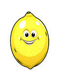 Cute little lemon with a happy grin