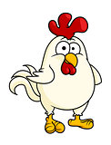 Funny fat little rooster or cock