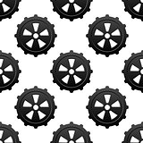 Gear and pinion seamless pattern