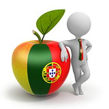 Apple with Portugal flag and businessman