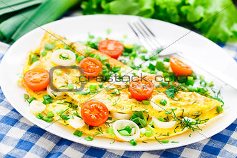 Omelette with fresh herbs