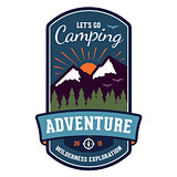 Camping adventure badge emblem