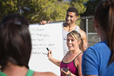 Exercise Teachers Talking to Group