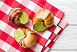 snails with butter and parsley