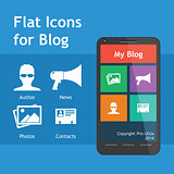 Flat Icons for blog