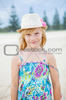 Cute young girl at beach