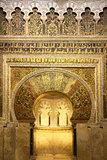 The Mihrab in Mosque of Cordoba (La Mezquita), Spain, Europe