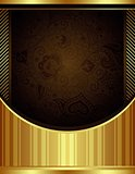 Abstract Chocolate and Gold Floral Background