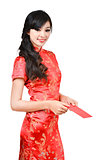 pretty women with cheongsam