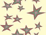 Seamless Five Pointed Stars
