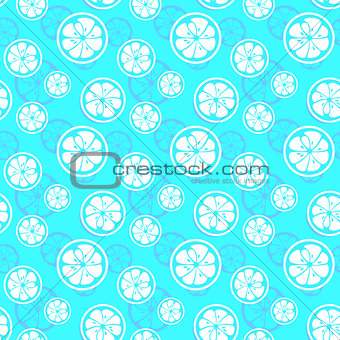 Abstract citrus fruit seamless pattern. Vector illustration