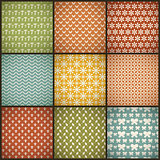 Vintage summer vector seamless patterns