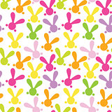 Colorful seamless patern with easter bunny. Vector