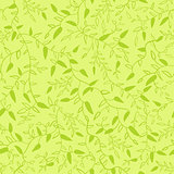 Floral seamless pattern with leaves. Vector illustration