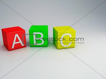 Blocks ABC letters 3d