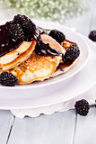 Pancakes and Blackberry Sauce