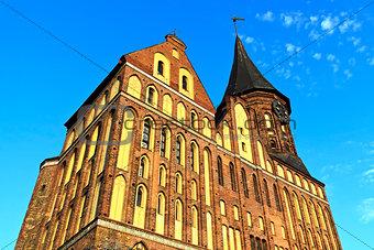 Cathedral of Koenigsberg - Gothic 14th century. Kaliningrad (formerly Koenigsberg), Russia