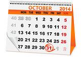 calendar for Halloween