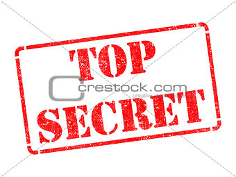 Top Secret -  Red Rubber Stamp.