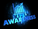 Awareness Concept on Dark Digital Background.