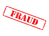 Fraud - Inscription on Red Rubber Stamp.