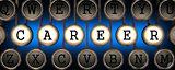 Career on Old Typewriter's Keys.