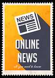 Online News on Yellow in Flat Design.