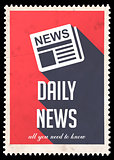 Daily News on Red in Flat Design.