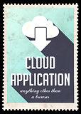 Cloud Application on Light Blue in Flat Design.