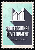 Professional Development on Blue in Flat Design.