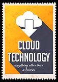 Cloud Technology on Yellow in Flat Design.