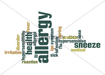 Allergy word cloud