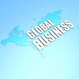 Global business world map