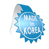 Made in Korea star label