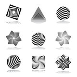 Design elements set. Abstract graphical icons.
