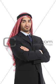 Arab saudi emirates business man posing