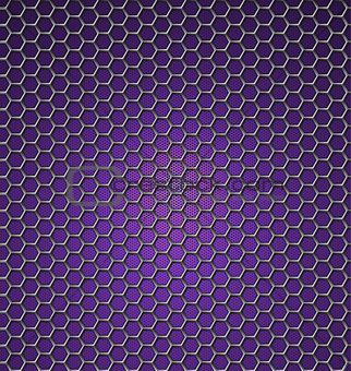 Abstract purple background with hexagons