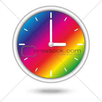 clock with color spectrum