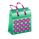 shopping bag with spring motive