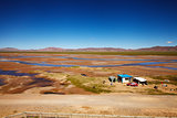 Outpost at Tibetan Plateau