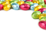 Chocolate eggs frame