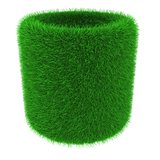 Grassy tube object