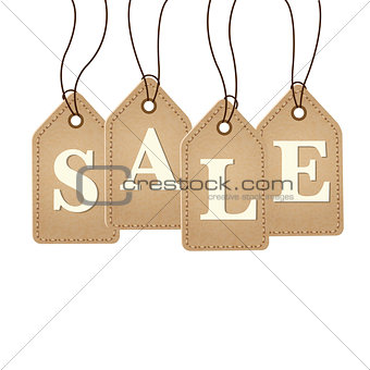 Old Paper Sale Tags