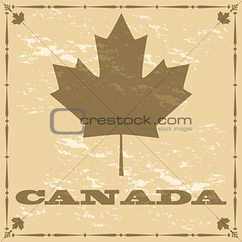 Old style Canada maple leaf