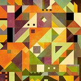 Abstract triangles shapes background