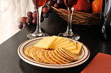 Smoked Gouda Cheese with Crackers